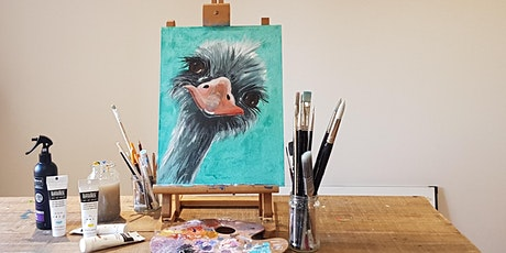 'Curious Ostrich' Painting workshop - Fun & unwind for all abilities tickets
