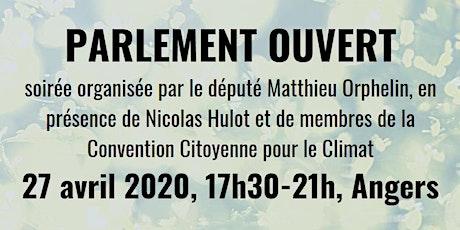 Parlement Ouvert à Angers avec Nicolas Hulot et Matthieu Orphelin billets
