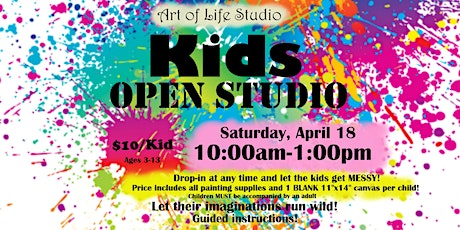 Kid's Open Studio: April 18 tickets