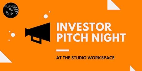 ONLINE - INVESTOR PITCH NIGHT f. Startups & Entrepreneurs  Studio Workspace tickets