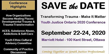 Youth Justice Ontario  Conference - Transforming Trauma - Make it Matter tickets