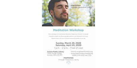 Free Meditation at Aurora Public Library tickets