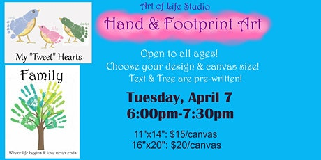 Family Paint Class: Hand & Footprint Art tickets