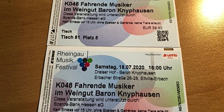 Rheingau Musik Festival, fahrende Musiker Tickets