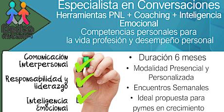 """Capacitación """"Especialista en Conversaciones"""" PNL + IE + Coaching entradas"""