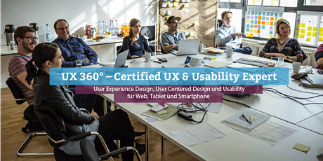 UX 360° – Certified UX & Usability Expert, Online Tickets