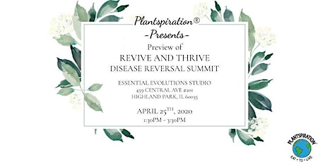 PREVIEW of Revive And Thrive Disease Reversal Summit tickets