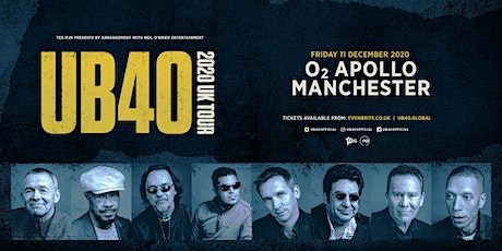 UB40 2020 (O2 Apollo, Manchester) tickets