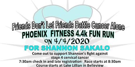 Phoenix Fitness 4.4k Fun Run for Shannon Sakalo tickets