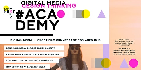 Digital Media - short film - animation summercamp for ages 13-18 tickets