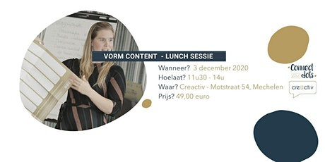 Hoe geef jij je content in 2021 vorm? - Lunch Sessie tickets