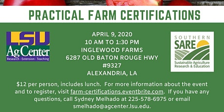 Practical Farm Certifications Workshop tickets