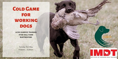 Cold Game for Working Dogs Workshop tickets