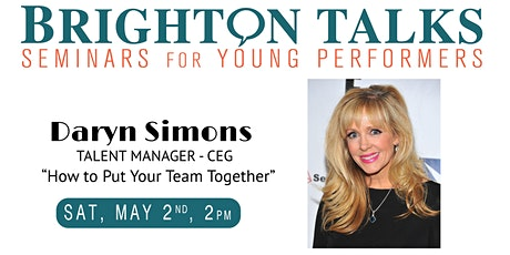 Brighton Talks: CEG Talent Manager Daryn Simons tickets