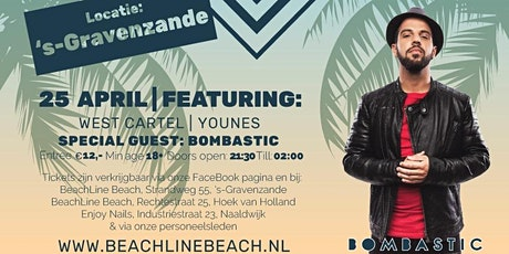 BeachLine Opening Party | 18+ | Bombastic, Younes & West Cartel tickets