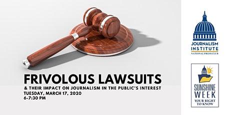 Postponed: Frivolous lawsuits and their impact on journalism in the public's interest tickets
