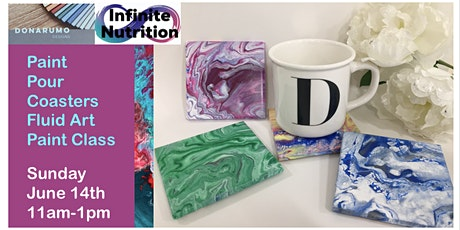 Paint Pour Coasters - Fluid Art Paint Class tickets