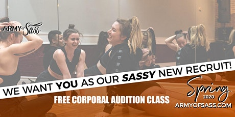 Free Spring Corporal Audition Class  for Inter/ Advanced Level tickets