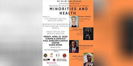 We Are The Voice: Minorities & Health tickets