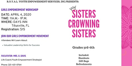 Sisters Crowning Sisters Workshop 103 tickets