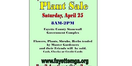 Plant Sale Fayette Master Gardener Association tickets