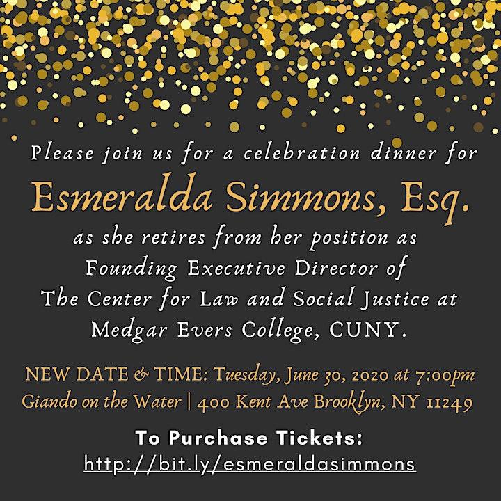 Retirement Dinner in Celebration of  Esmeralda Simmons, Esq. image