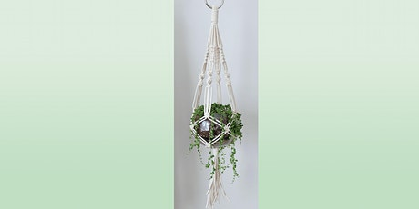 Macramé Hanging Planter: Sip and Craft at Magnanini Winery  tickets