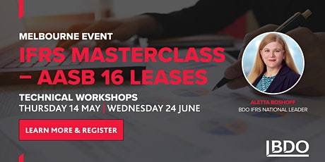 IFRS Masterclass - AASB 16 Leases (Melbourne) tickets
