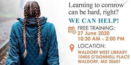 FREE: Learn to cornrow in 15 mins workshop tickets