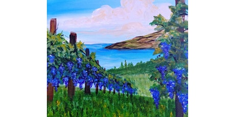 """5/13 - Corks and Canvas Event @ Tsillan Cellars, Woodinville """"Vineyards at Lake Chelan"""" tickets"""