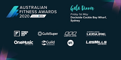Australian Fitness Awards 2020  Gala Dinner tickets