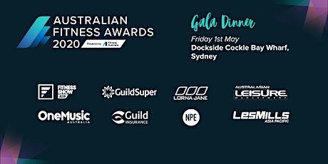 Australian Fitness Awards 2020  Gala Dinner tickets