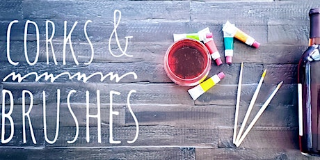 Corks & Brushes: Where Wine meets Paint tickets