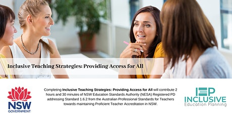 Inclusive Teaching Strategies: Providing Access for All [CANCELLED] tickets