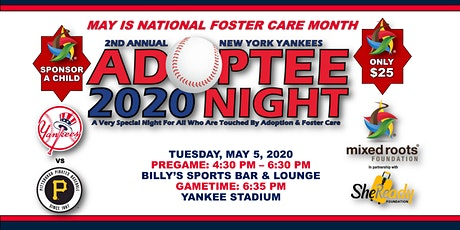 POSTPONED: 2nd Annual New York Yankees Adoptee Night + Pregame VIP Reception tickets