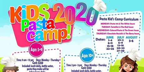 Kid's Pasta Camp (Ages 10 and up) tickets