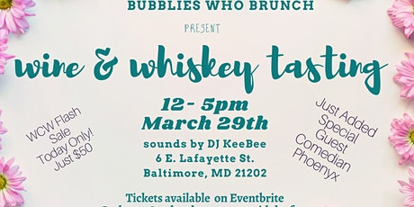 The Bubblies Experience Wine & Whiskey Tasting and Brunch tickets