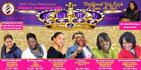 "MGBC Women's Conference 2020  ""Destined For Such A Time As This"" tickets"