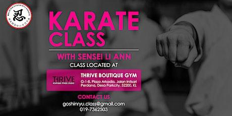 Karate Class tickets