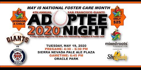 POSTPONED: 6th Annual San Francisco Giants Adoptee Night + Pregame VIP Reception tickets