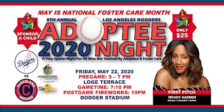 POSTPONED: 8th Annual Los Angeles Dodgers Adoptee Night Ft. Tiffany Haddish + Pregame VIP Reception tickets
