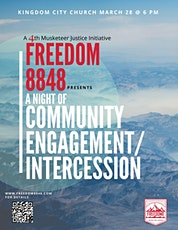 Freedom 8848 Presents A Night of Communty Engagement/Intercession tickets