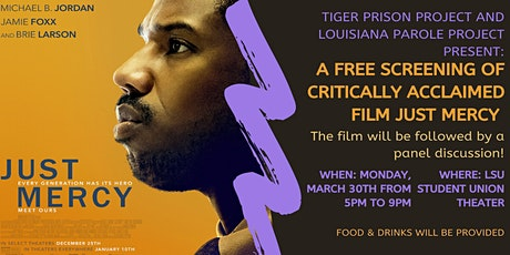 Free Screening and Panel Discussion of Just Mercy tickets
