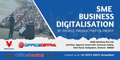 SME Business Digitalisation: People, Productivity, Profit tickets