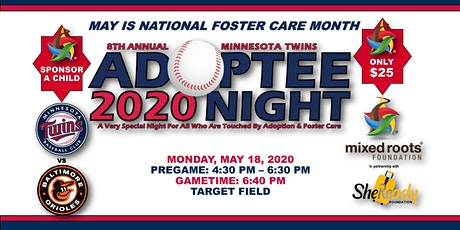 POSTPONED: 8th Annual Minnesota Twins Adoptee Night + Pregame VIP Reception tickets