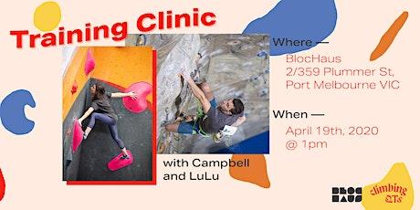 Training Clinics with ClimbingQTs tickets