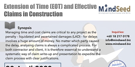 M1P10 - Extension of Time (EOT) and Effective Claims in Construction tickets