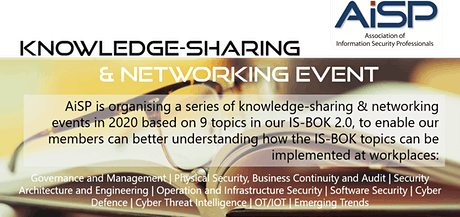 AiSP Knowledge-Sharing & Networking Event: Cyber Threat Intelligence tickets