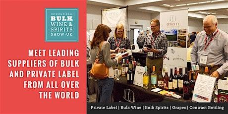 2021 International Bulk Wine and Spirits Show - Exhibitor Registration (London) tickets