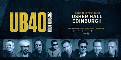 UB40 2020 (Usher Hall, Edinburgh) tickets